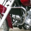 Crash bar front krom